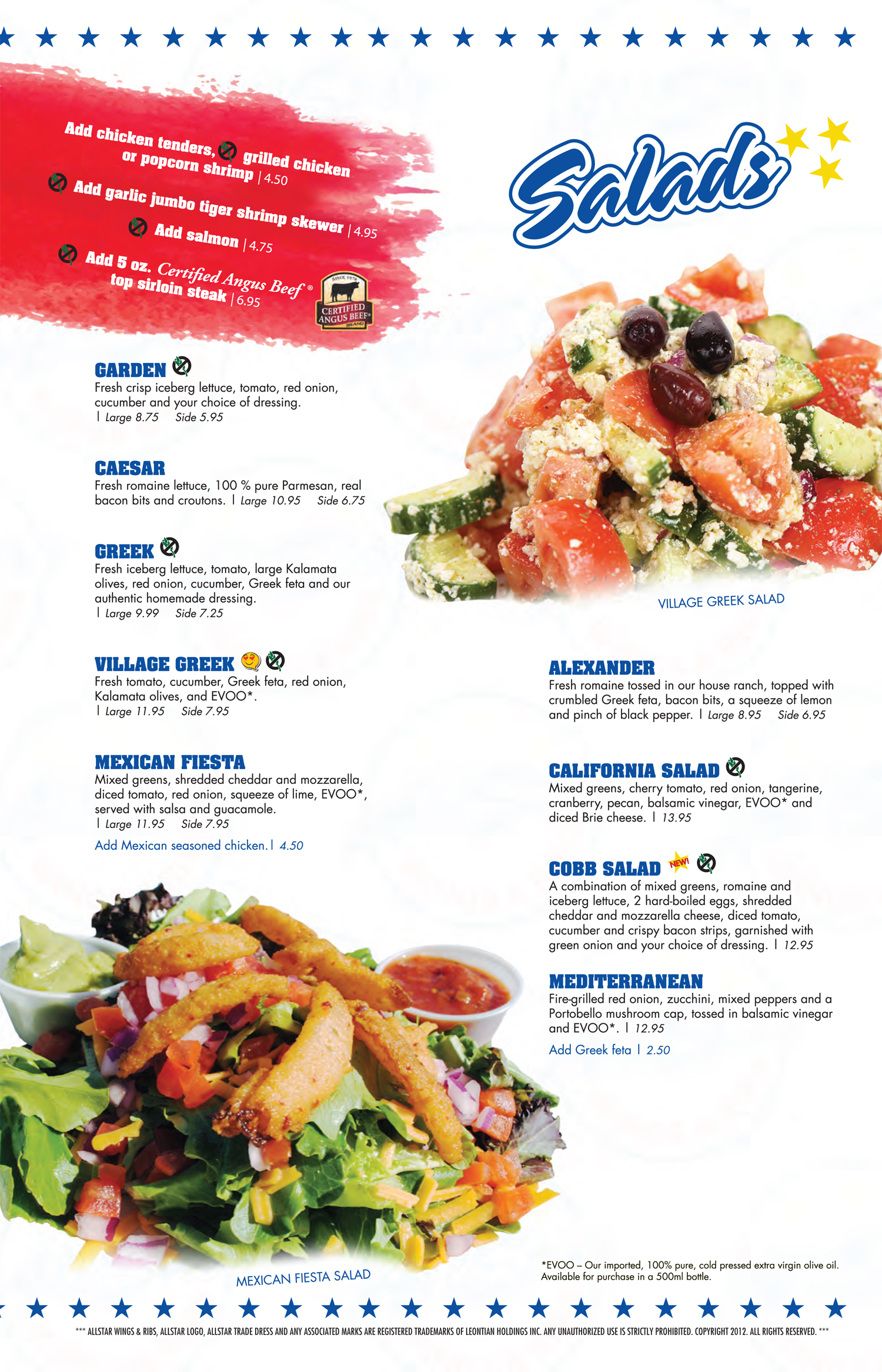 Salads allstar wings ribs click here to download the pdf forumfinder Images